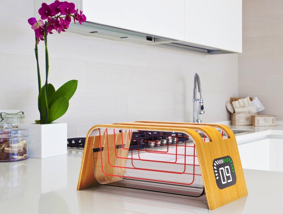 Bamboo and Glass Toaster by StumpfStudio