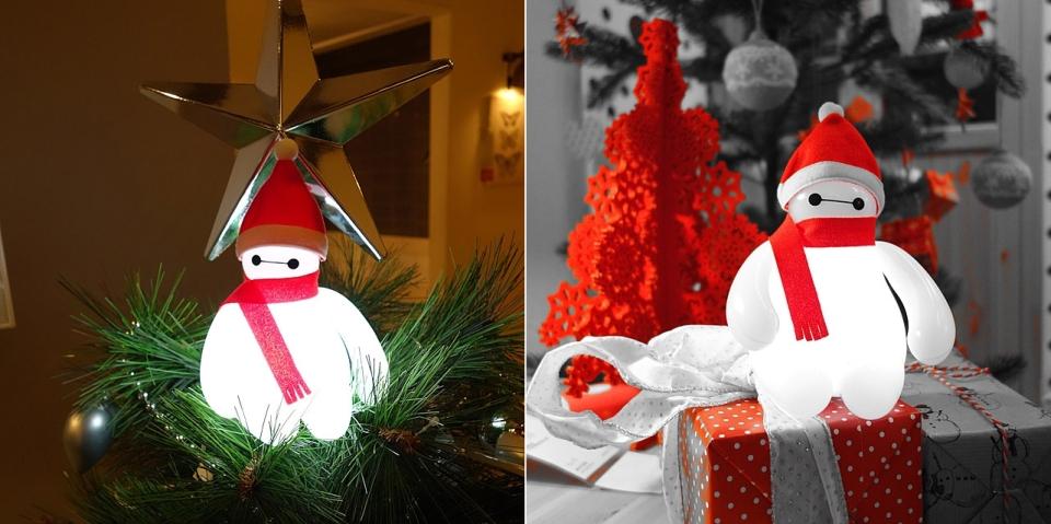Baymax Lamp turns Santa Claus