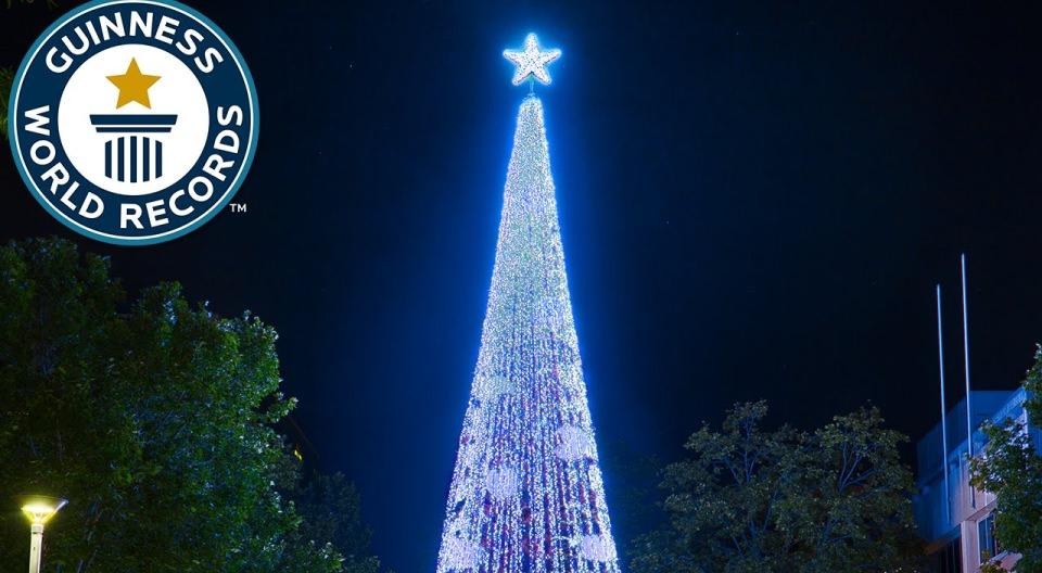 Guinness World Record Christmas tree light