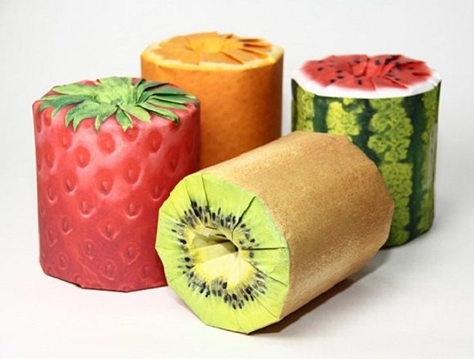 Fruit Toilet Paper rolls