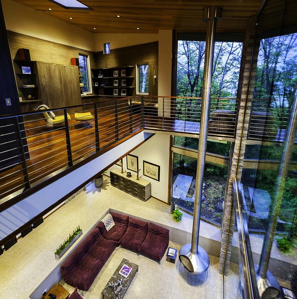 Longest Hanging Fireplace
