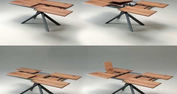 Ozzio 4x4 extendable table