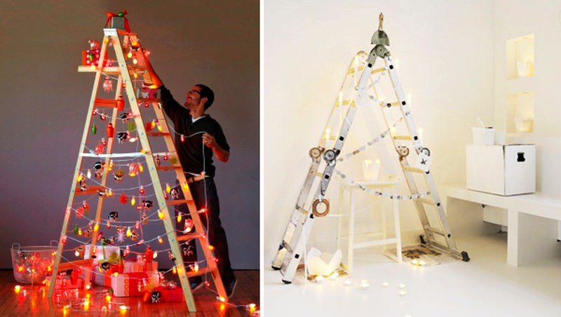 5 DIY non-traditional but equally festive Christmas trees
