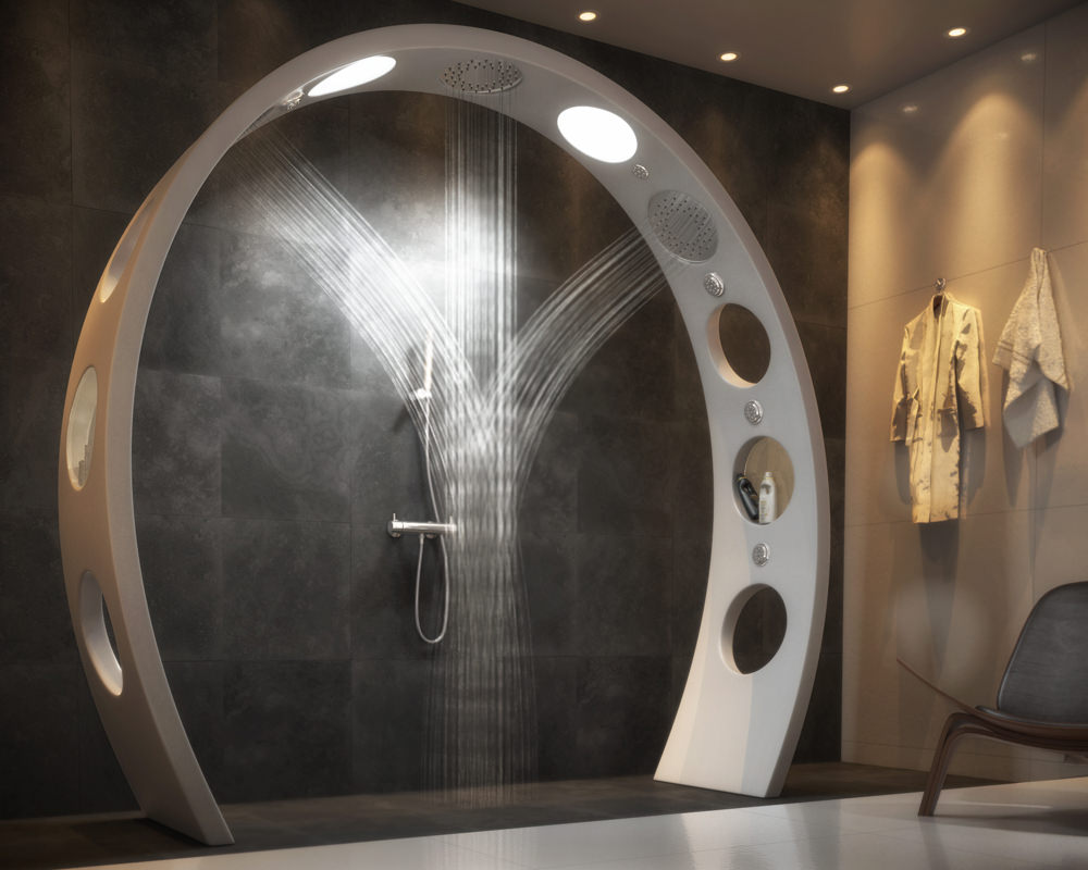 Arched Overhead Shower by QS Supplies