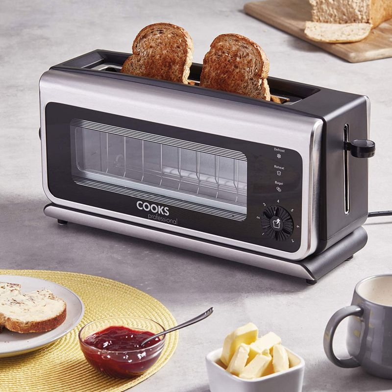 Cooks Professional glass toaster