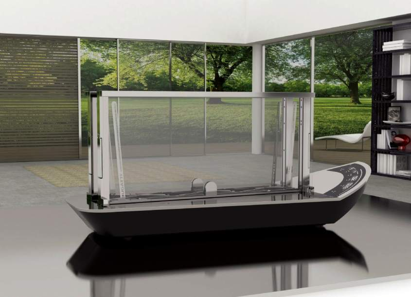Glass toaster from Casa Bugatti
