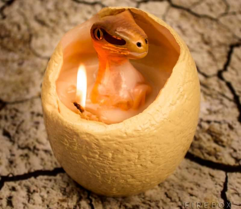 Hatching Dinasour Candle