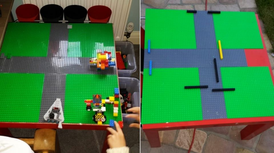 IKEA LACK LEGO table with built in storage