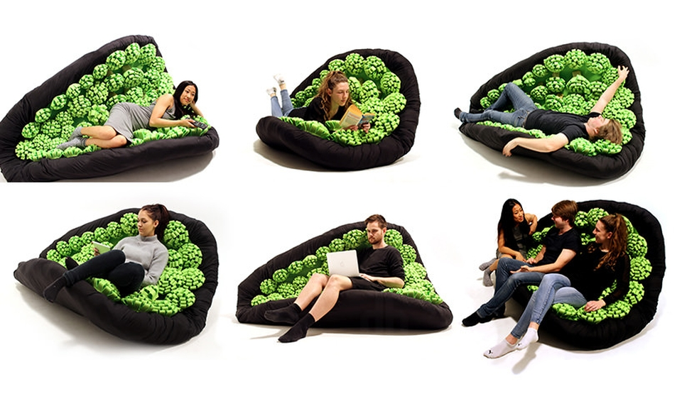 Lullock pliable seating system rolls as you move