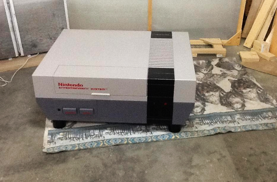 Man builds Nintendo console table to raise funds for charity
