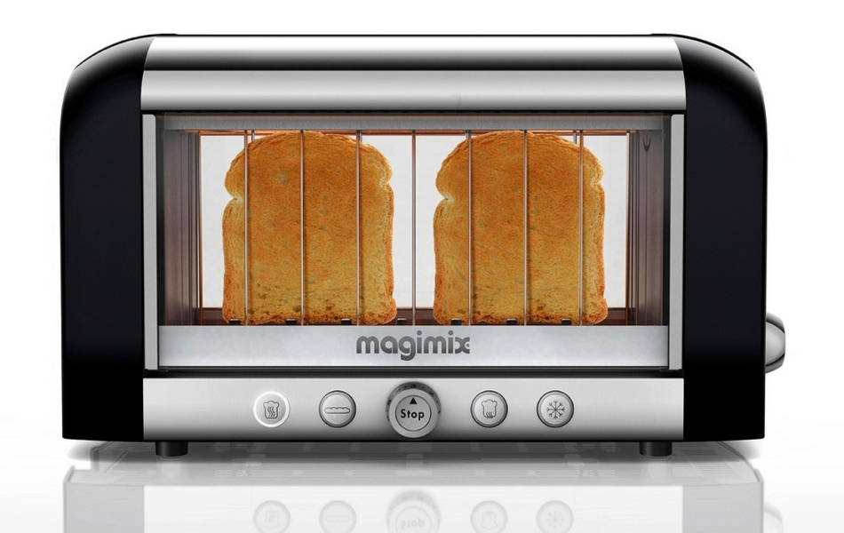 See Through Transparent Glass Toasters