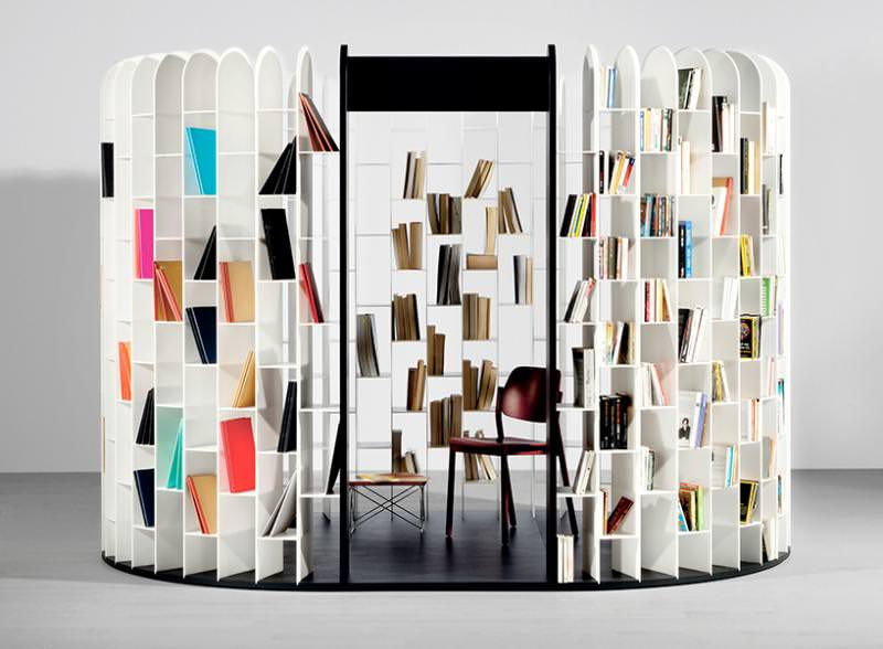 Area Bookshelf by Gilles Belley