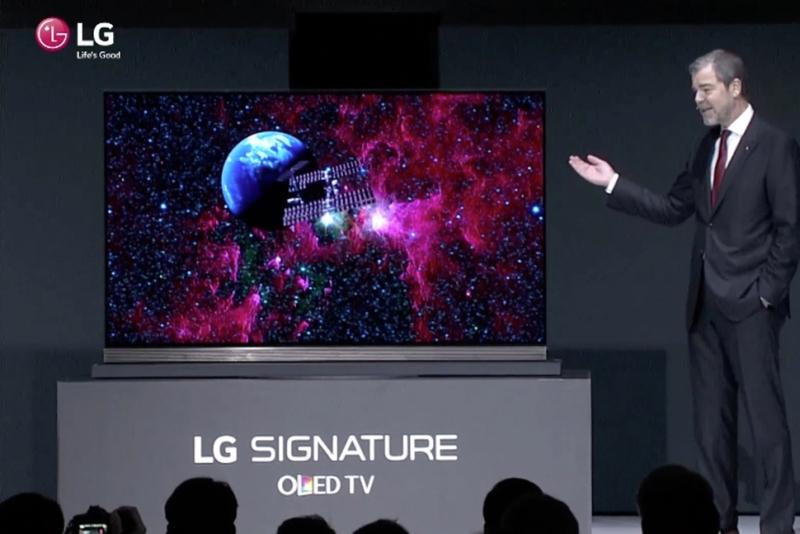 CES 2016 LG Signature G6 TV