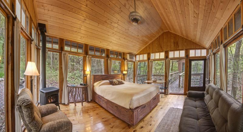 Interiors inside the cabins by CandelWood