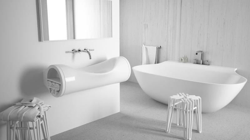 Hollow Sink by Hunap Studio