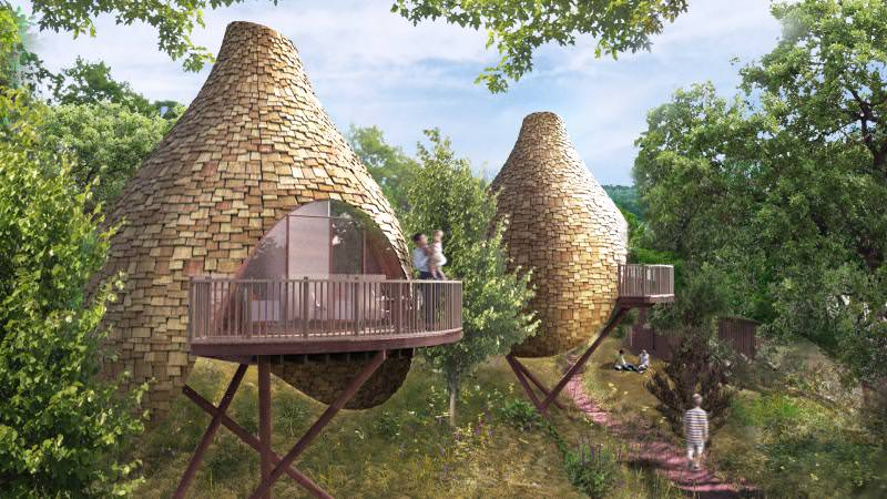 Robin Hill Nesting Treehouse by Blue Forest