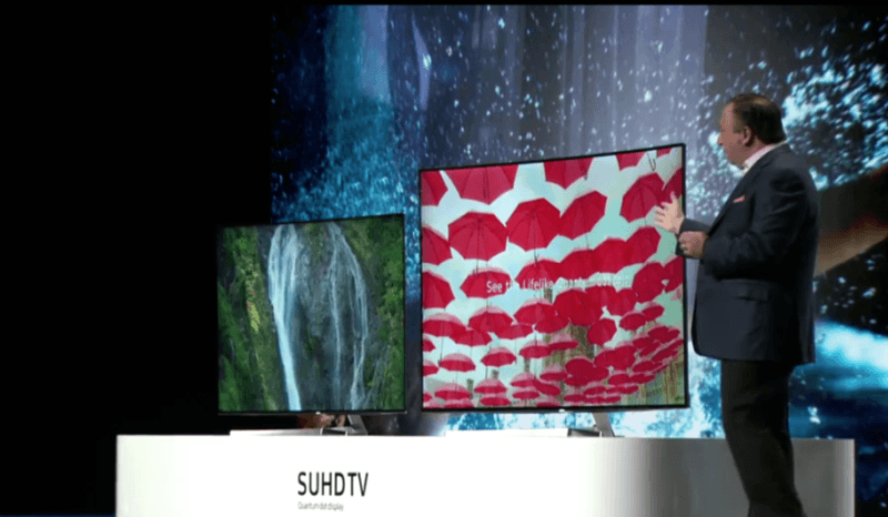 Samsung SUHD TVs lineup with quantum dot displays