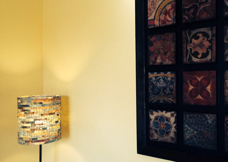 Vilma Farrell creates lampshades out of used coffee filters