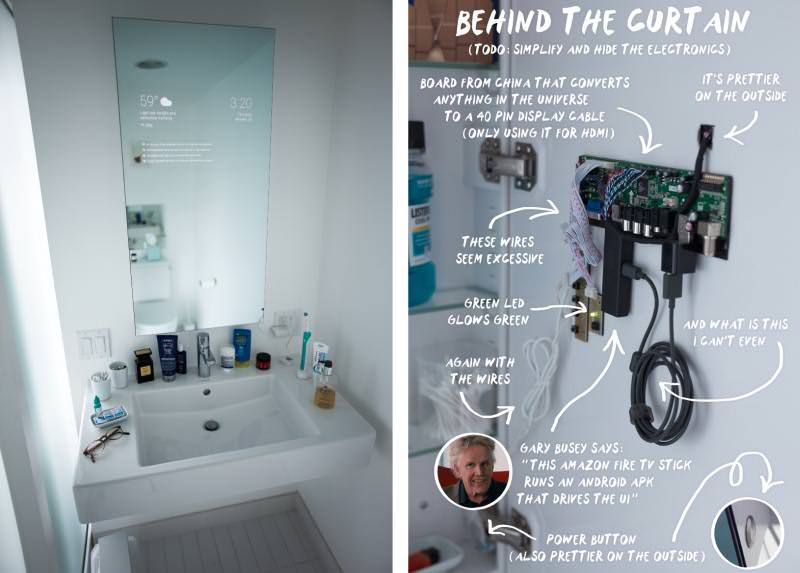 Android-powered bathroom mirror