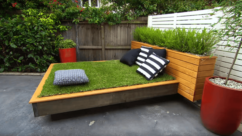 DIY Grass Bed