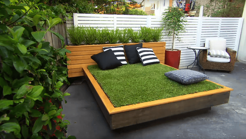 DIY Grass Bed