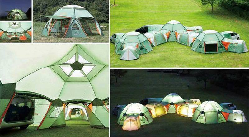Endless possibilities offered by the modular fore-retardant tents