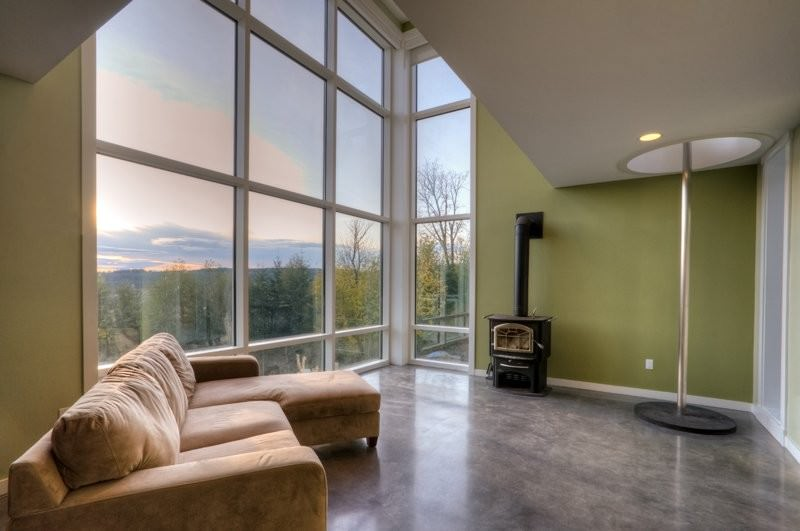 Designs Northwest Architects' Stanwood House Features a Fireman's Pole