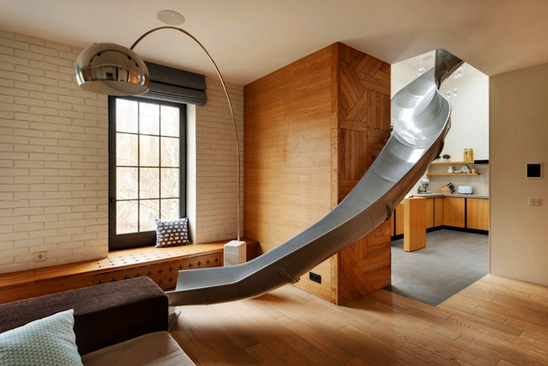 Ki Design Studio Slide in the Modern Apartment