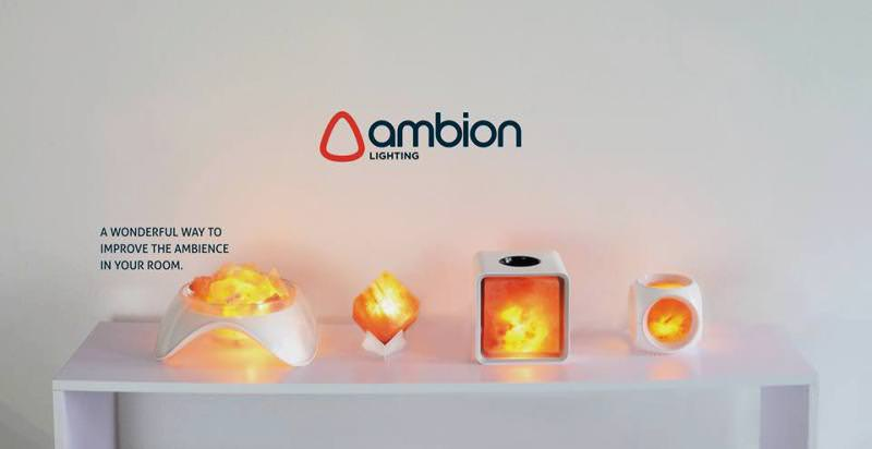 LED salt lamps by Ambion Lighting