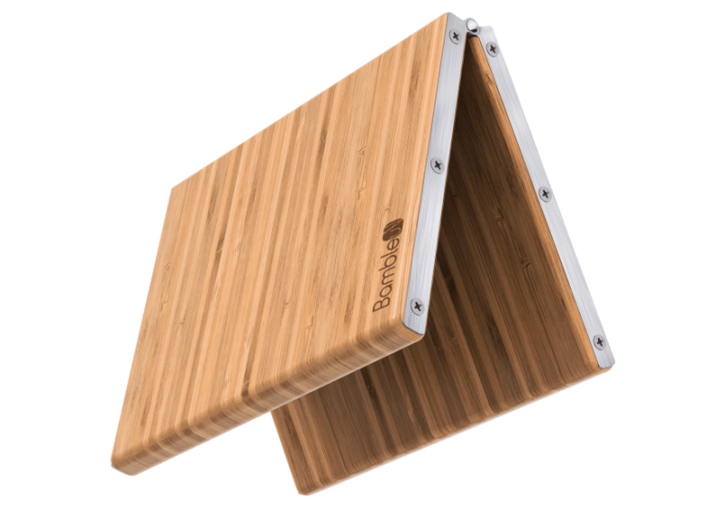 Bambleu 4-in-1 cutting board folds up for compact storage