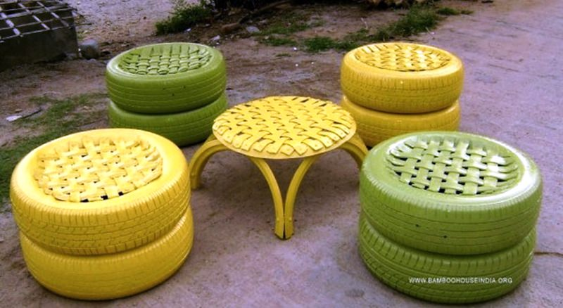 Bamboo-House-India-Recycled-Tire-Furniture