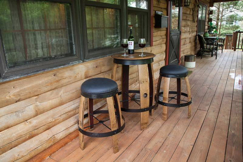 Bistro Tables and stools by Woodfish