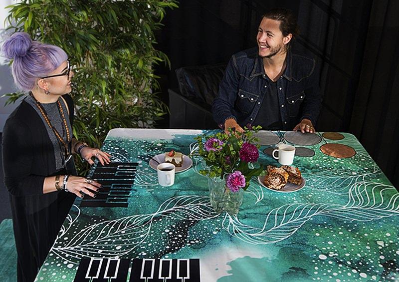 Smart Textiles Musical Tablecloth