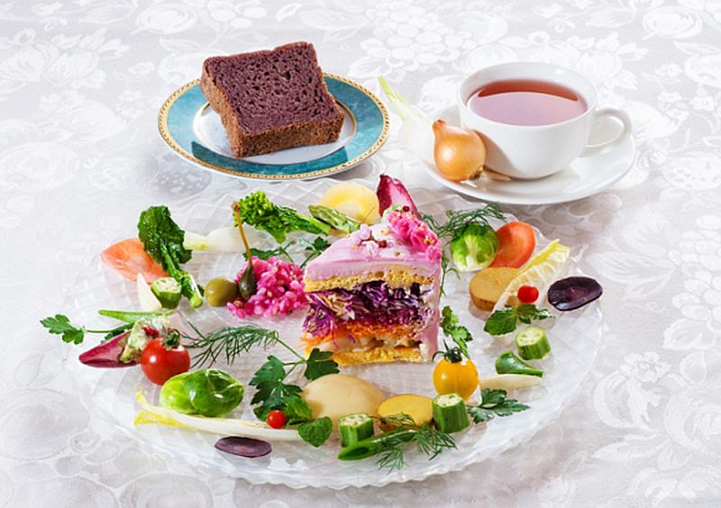 Vegedeco Salad Cafe Cakes Made From Layers of Vegetables
