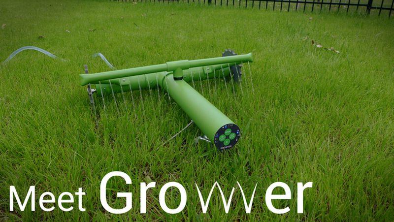 Growver lawn watering robot