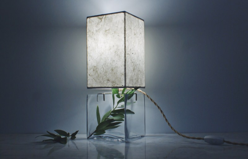 Handmade paper Lampshade by SHare Studios