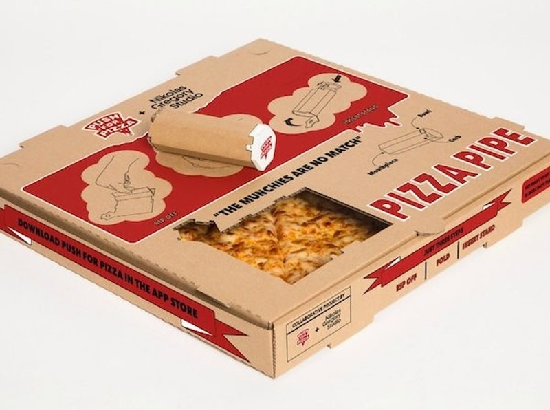 Pizza Box Weed Pipe by Push For Pizza