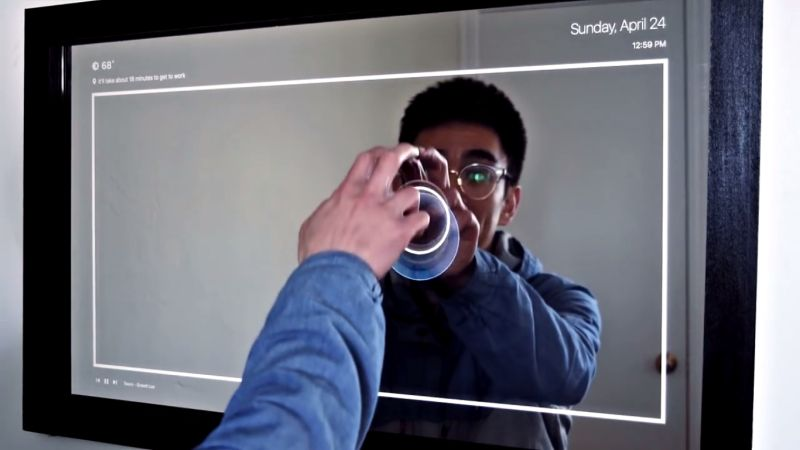 Ryan Nelwan Homemade Touchscreen Mirror