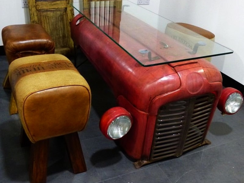 Salvaged Massey Ferguson tractor coffee table by Smithers of Stamford