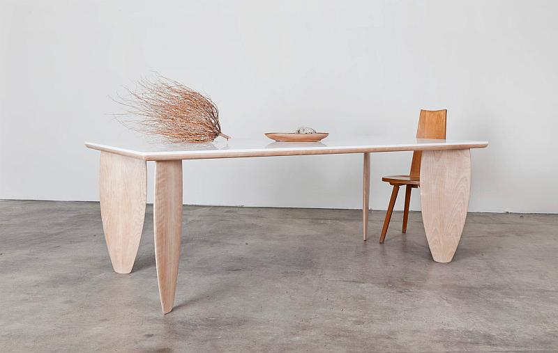 Surfboard Table by Mimi Jung and Brian Hurewitz of Brook&lyn