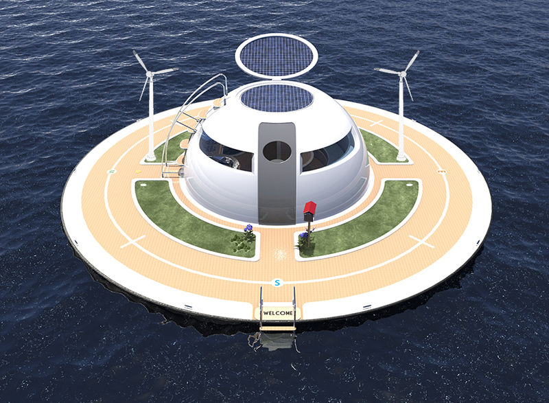UFO Floating Home by Jet Capsule