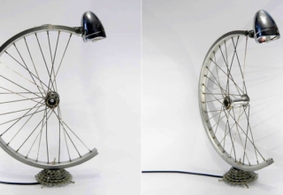 Bicycle parts desk lamp