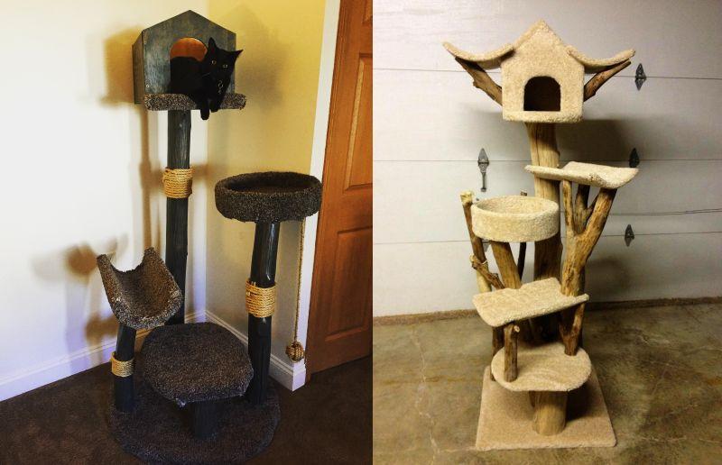 DIY Cat Treehouse