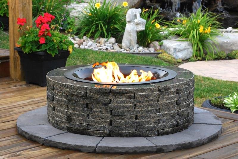 Realstone Recycled Granite Fire Pits