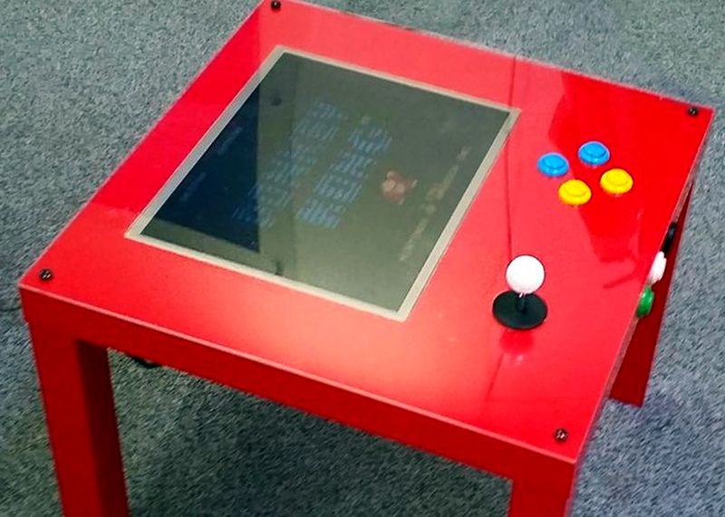 Ikea Raspberry Pi Arcade Table