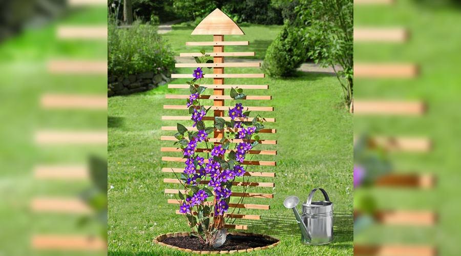 Pine Leaf-Shaped Trellis - Gardening Ideas