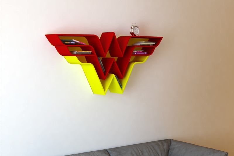 Superhero Bookshelves