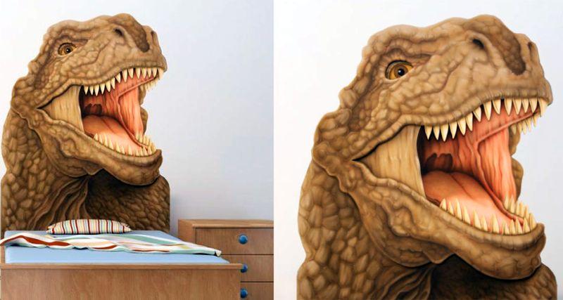 Dinosaur-inspired T-Rex Headboard by PoshTots