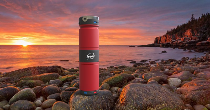 World's first vacuum insulated bottle that can carry two beverages at a time