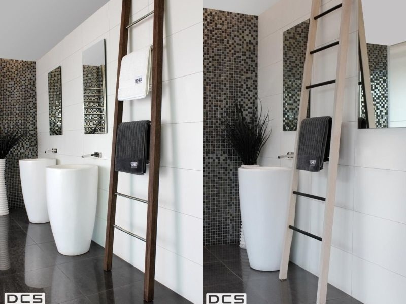 Heated wooden towel ladders by DC Short